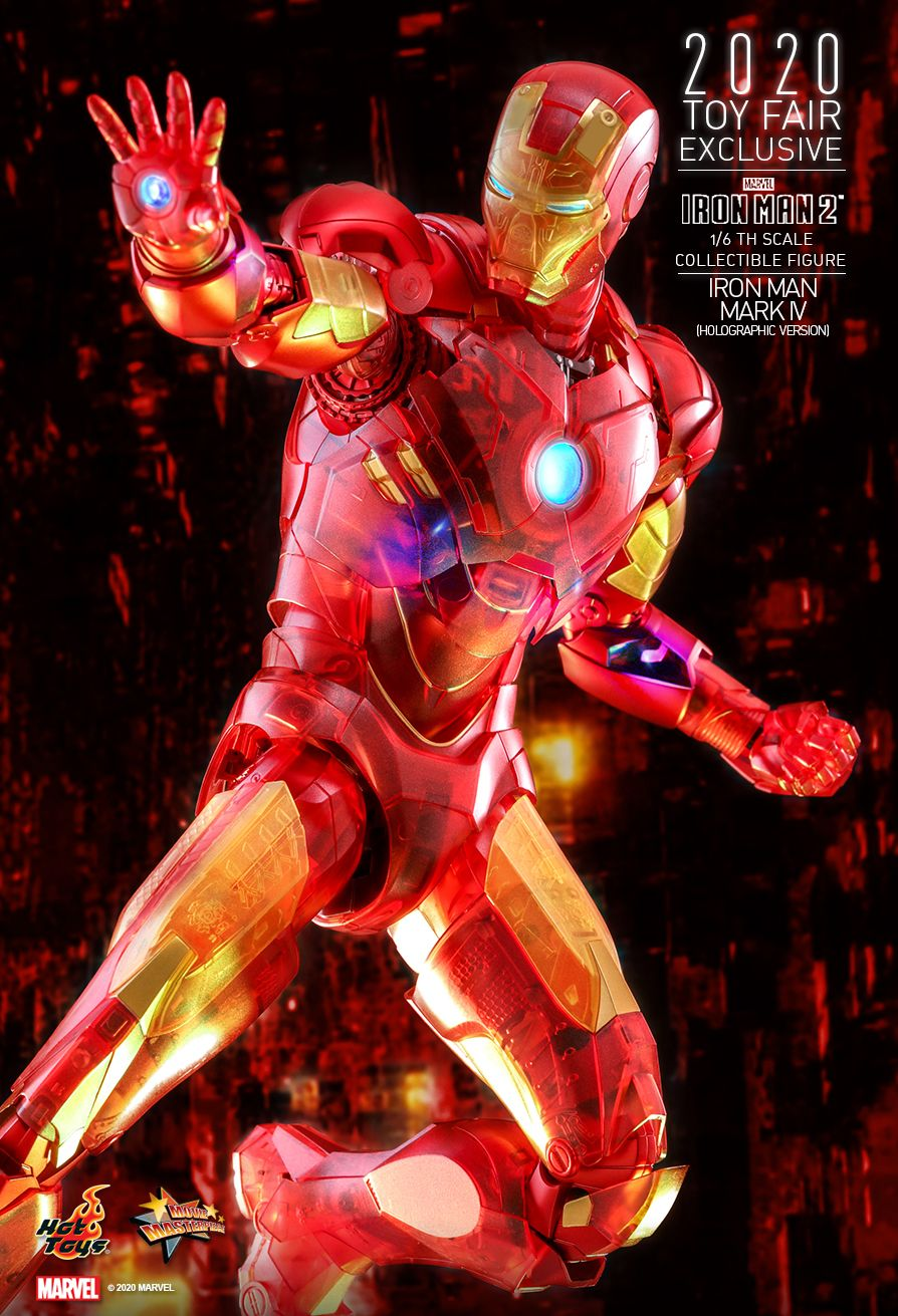 Iron Man 2 - Iron Man Mark IV Holographic Version - MINT IN BOX