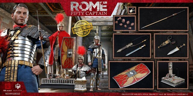 Rome Fifty Captain - Deluxe Edition - Belt w/Metal Sword & Dagger