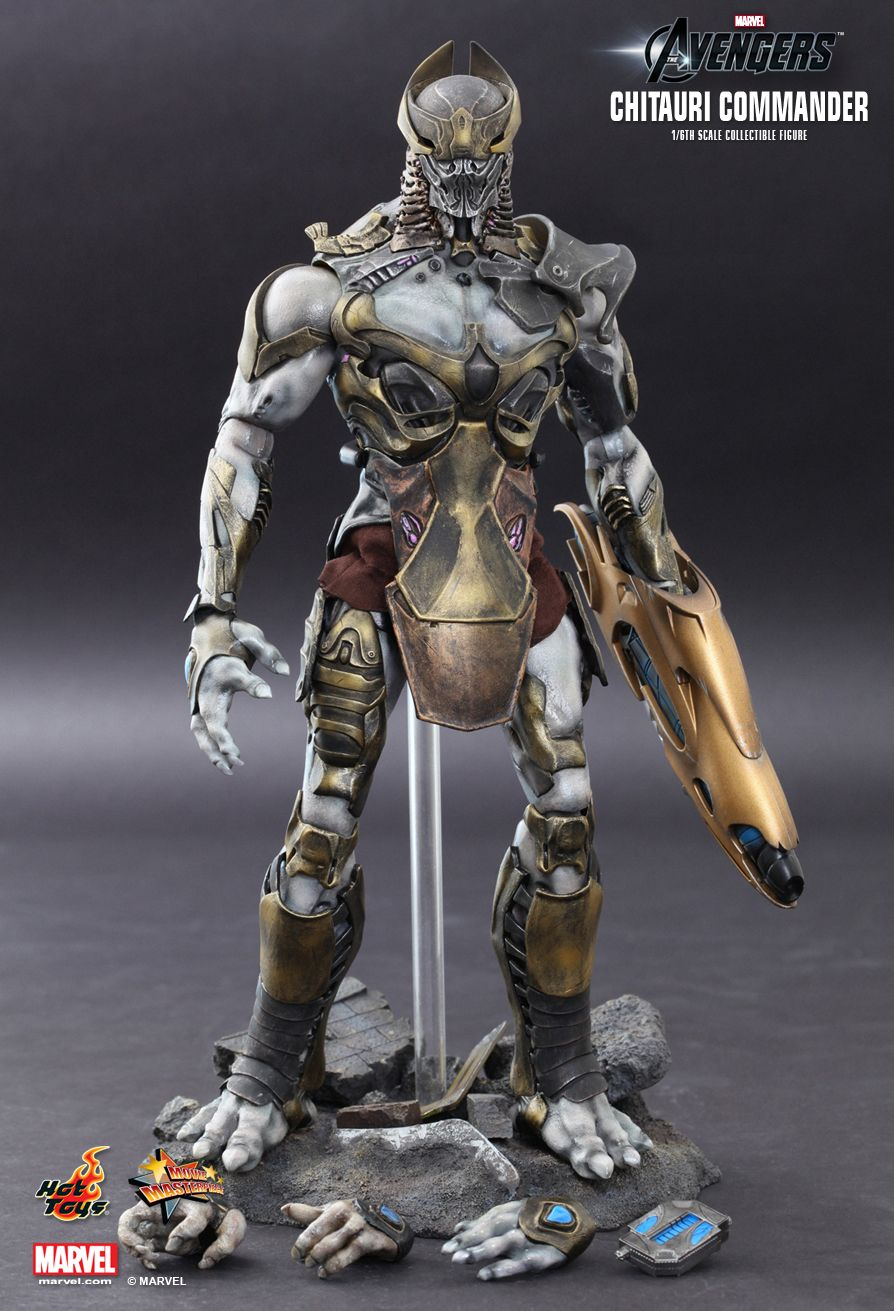 Chitauri Commander - Base Diorama Figure Stand Type 2