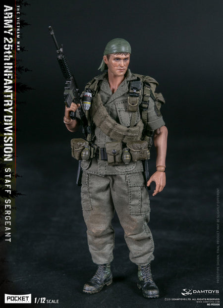 PREORDER - 1/12 - Vietnam - U.S. Army 25th Inf. Div Staff Sgt - MINT IN BOX
