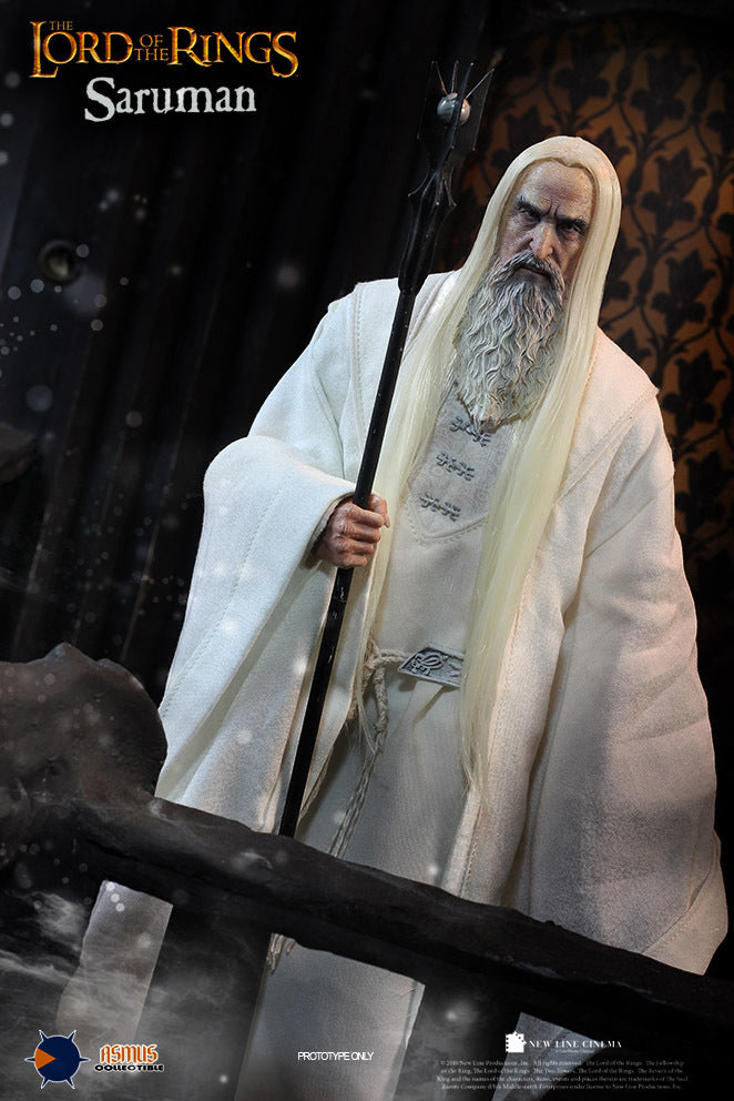 LOTR - Saruman the White - Head Sculpt in Christopher Lee Likeness
