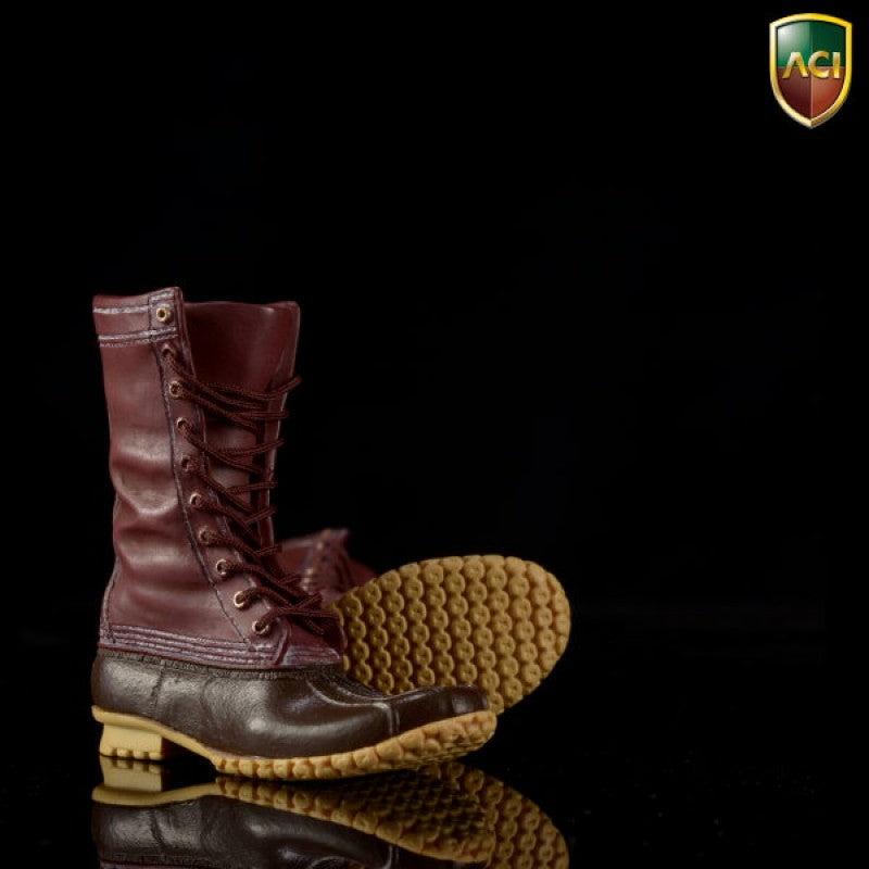 Outdoor Hunting - Dark Brown Duck Boots (Peg Type) - MINT IN BOX