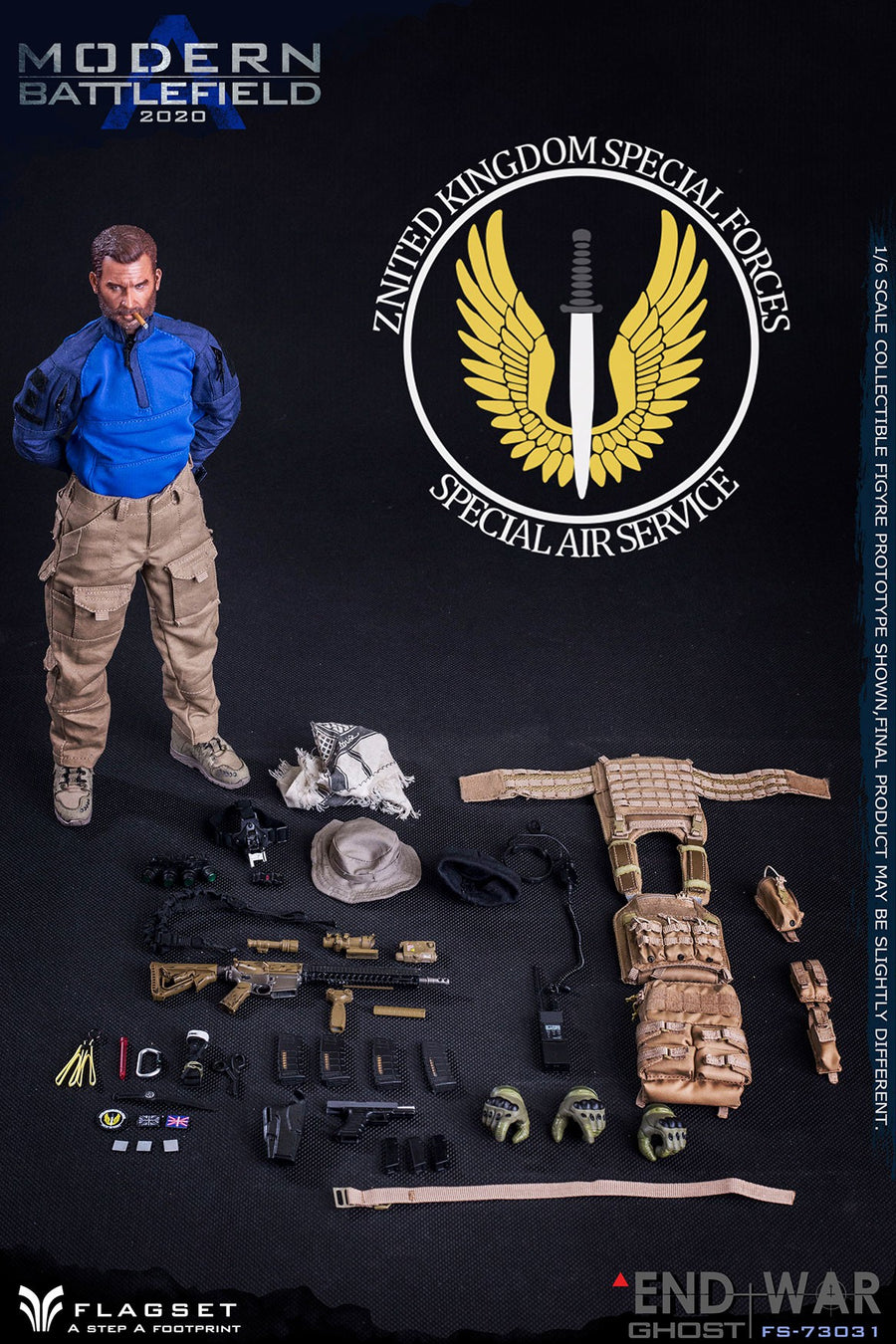 Modern Battlefield - Tan Assault Vest w/5.56mm Magazines