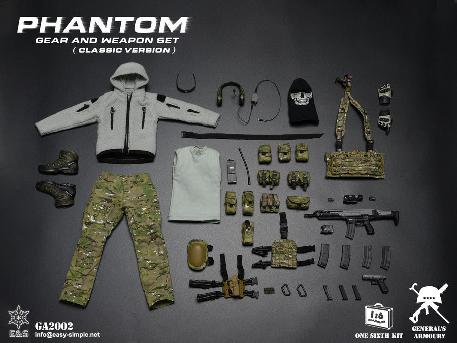 Phantom - 9mm Pistol w/Tan Drop Leg Holster