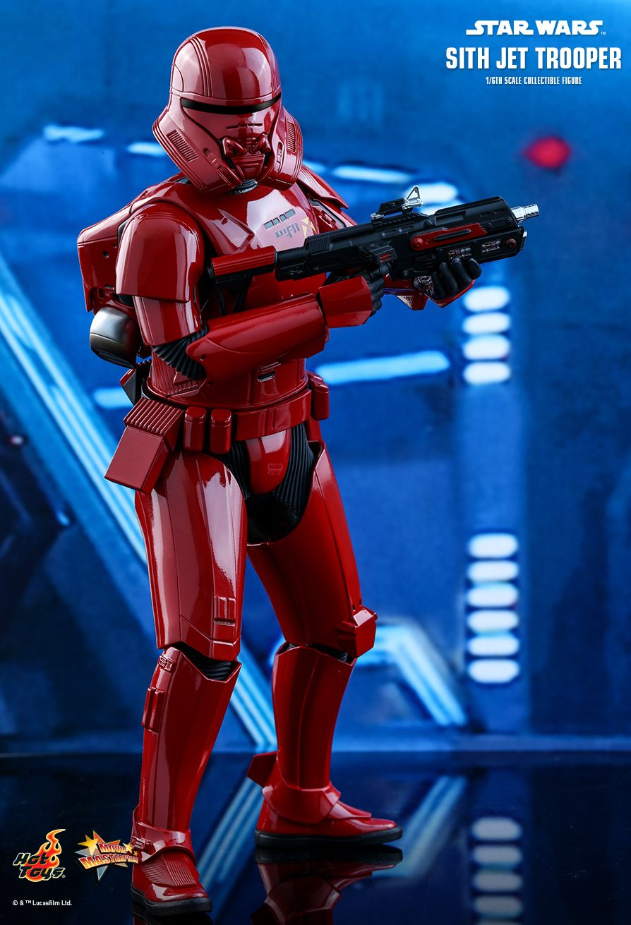 Star Wars - Sith Jet Trooper - Red & Black Gloved Hand Set