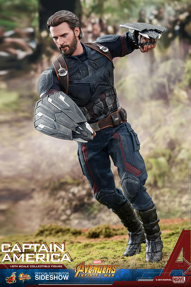 Captain America - Right Handed Shield Hand Set (x4)