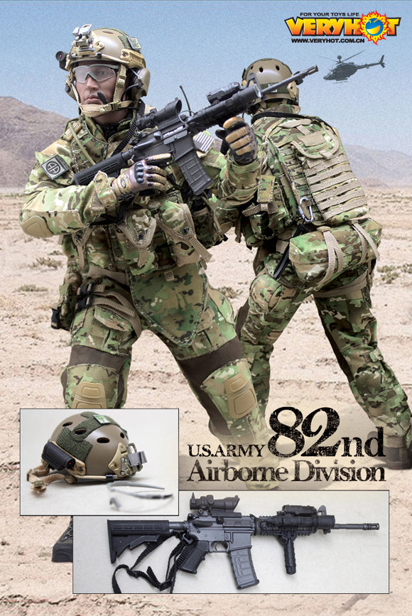 82nd Airborne 1//6 Scale Toy US Army Multicam MOLLE Plate Carrier Vest Set