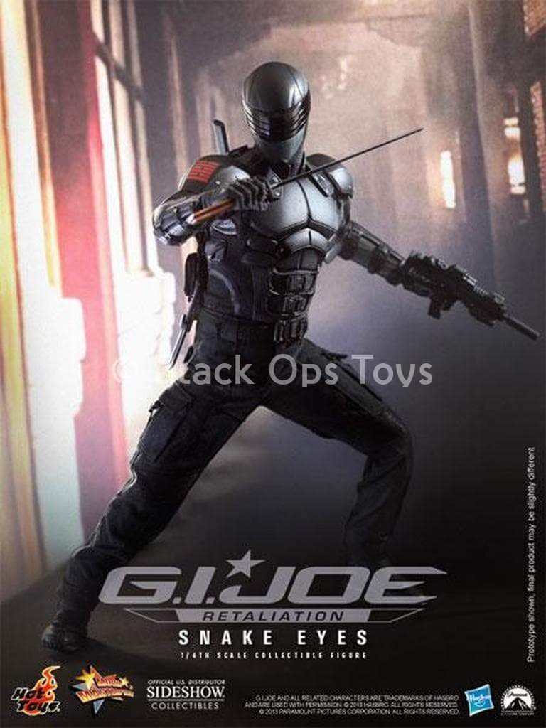 GI JOE - Snake Eyes - Black Gloved Hand Set (x5) w/Wrist Pegs