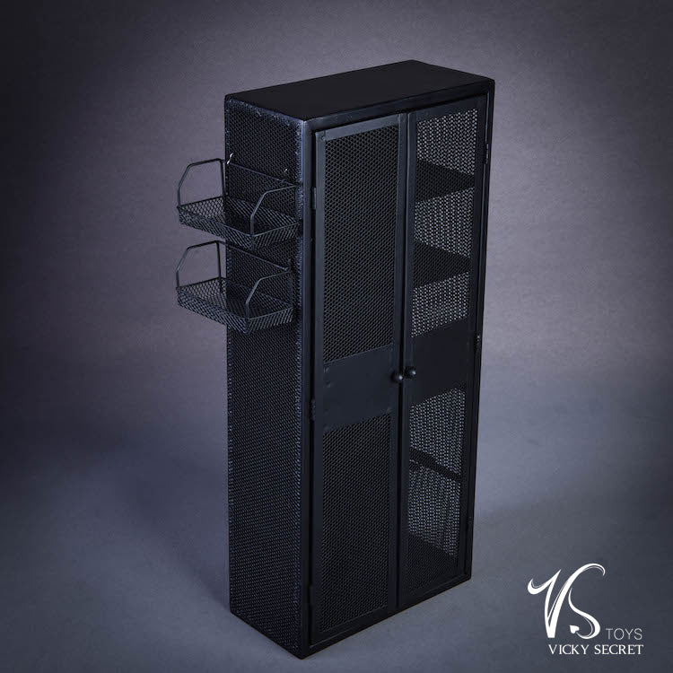 The Cabinet - Black Metal Storage Locker - MINT IN BOX