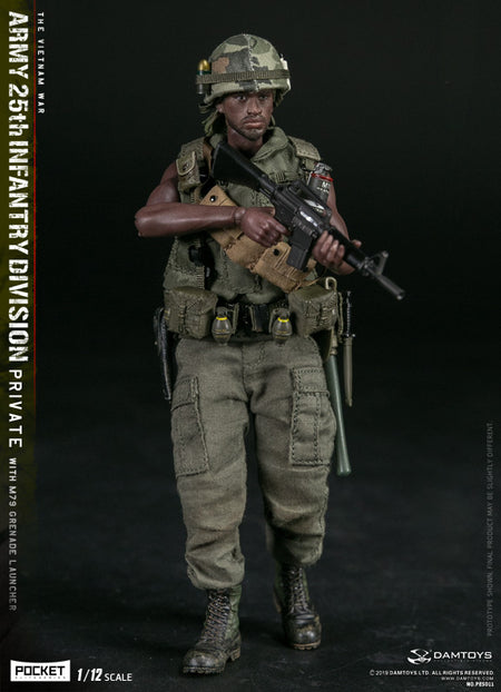 PREORDER - 1/12 - Vietnam - U.S. Army 25th Inf. Div. Pvt w/M79 - MINT IN BOX