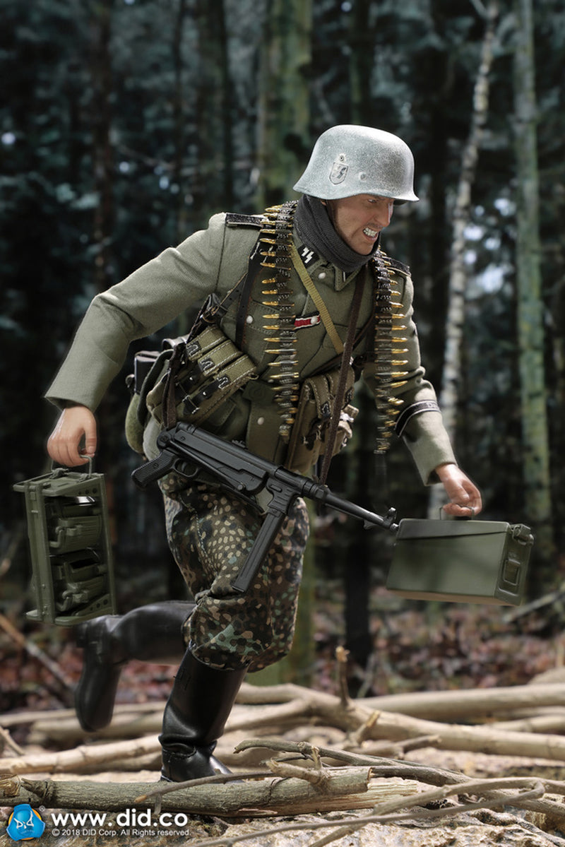 Details about  /1//6 Scale Toy WWII Green Combat Jacket German MG 42 Gunner
