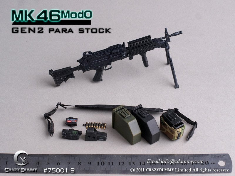 MK46 MOD 0 GEN2 Para Stock Set - Green PEQ