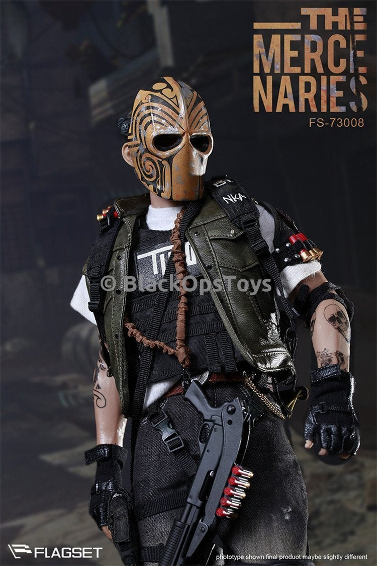 Army of Two Masked Mercenaries 2.0 Gold Dog Tag Chain