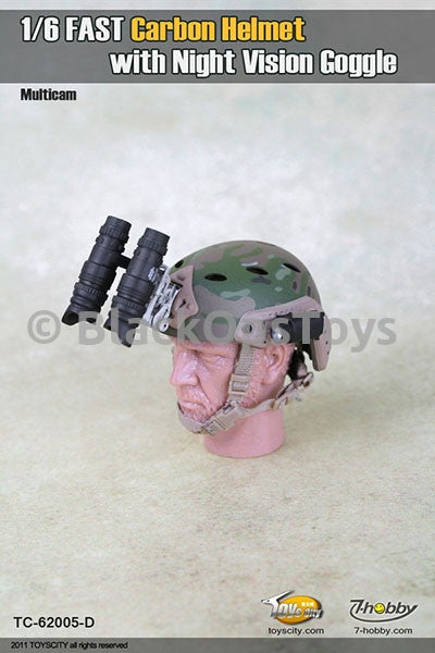 Multicam FAST Carbon Helmet with NVG MIB