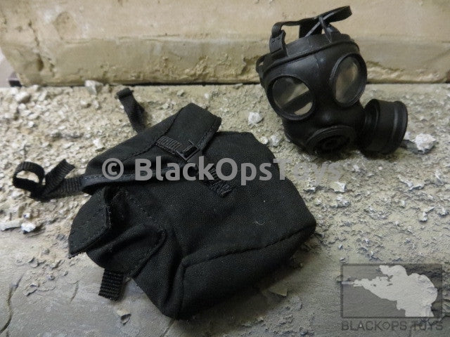 Chinese Police Tactical Unit Gas Mask W/ Pouch