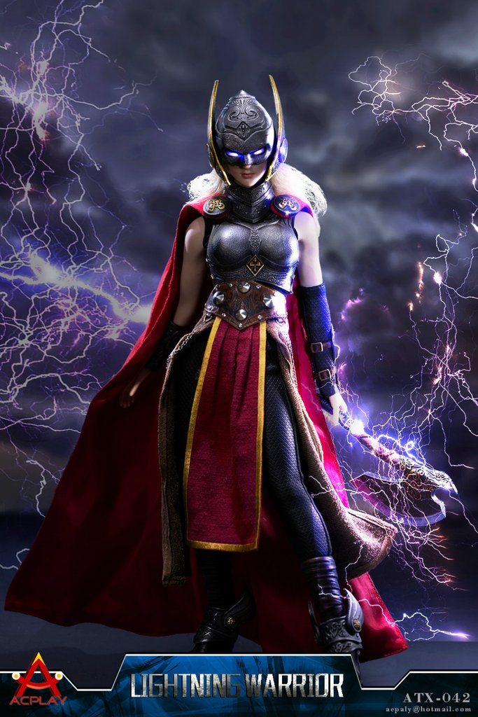 Lightning Warrior - Female Metal Asgardian Breast Plate & Cape