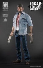 X-Men Logan Wolverine Steel Wolf Blood Stained Blue Jeans
