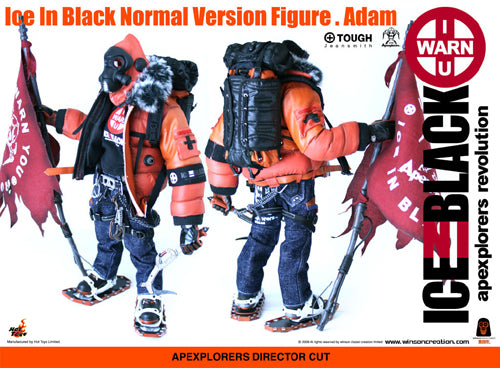 Tough Apexplorers - Adam - Black & Orange Crampons