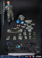 PLA UN Peacekeeper - Woodland Type 07 Pixelated Knee & Elbow Pads