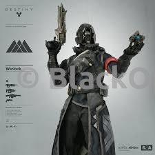 WARLOCK Black and Grey Chest Armor