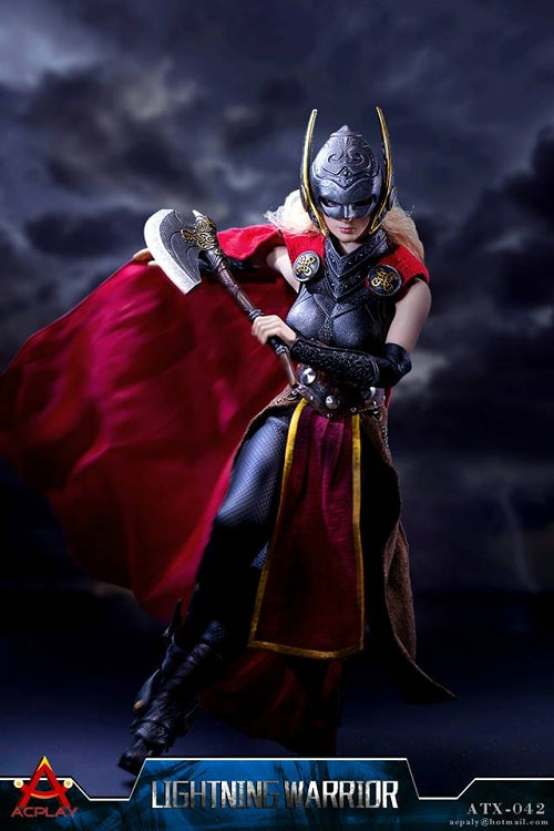 Lightning Warrior - Female Asgardian Metal Boot Set (Peg Type)
