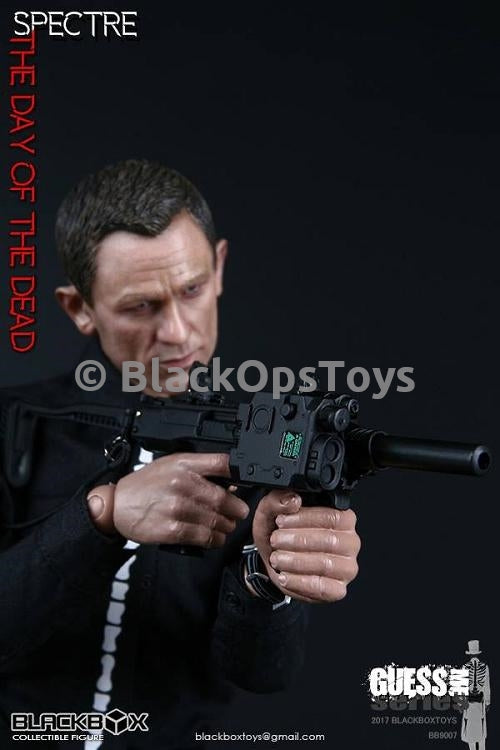 Spectre Day of the Dead James Bond Black Roni Pistol Carbine Conversion Shell