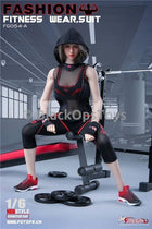 Red & Black Female Exercise Sneakers (Peg Type)