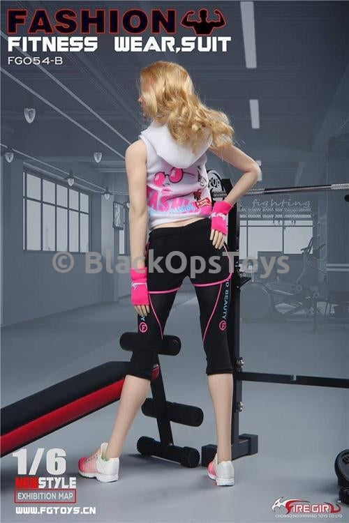 Pink Female Fingerless Work Out Gloves