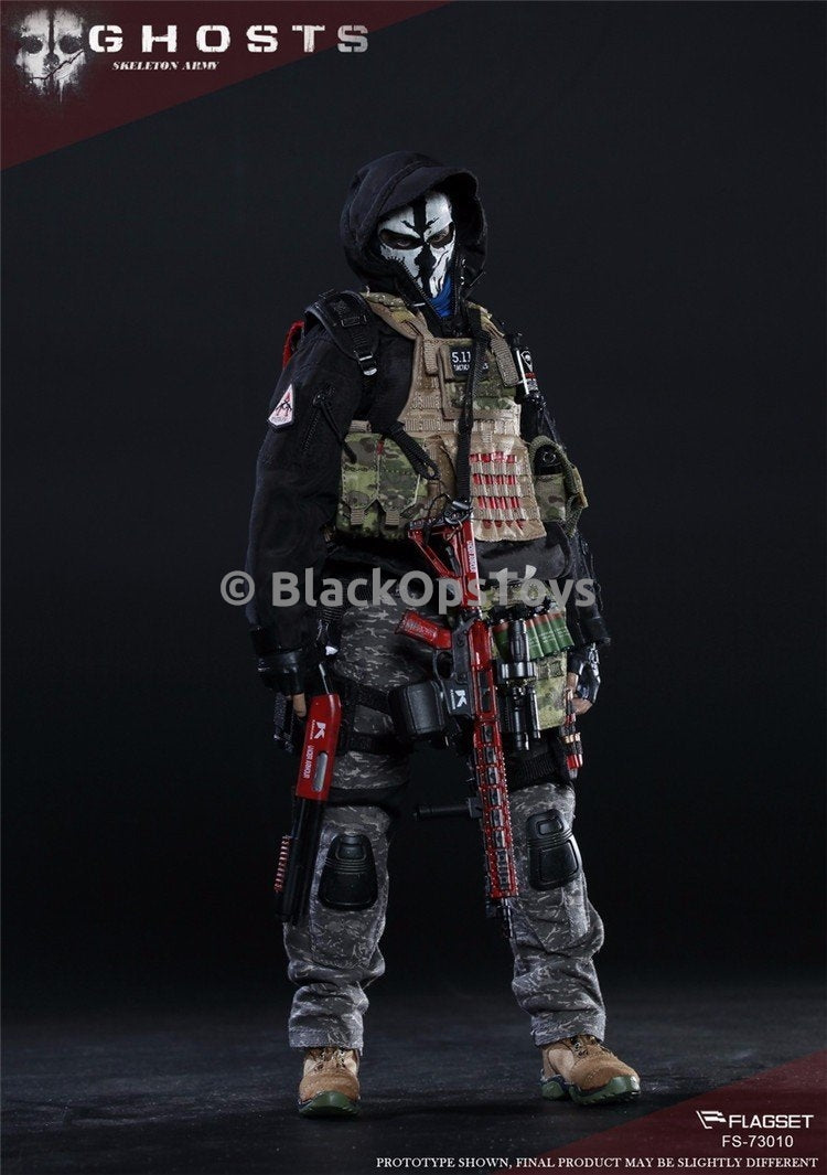 "Doomsday End War Death Squad ""K"" Caesar Call Of Duty Ghosts Black Tactical Body Armor"
