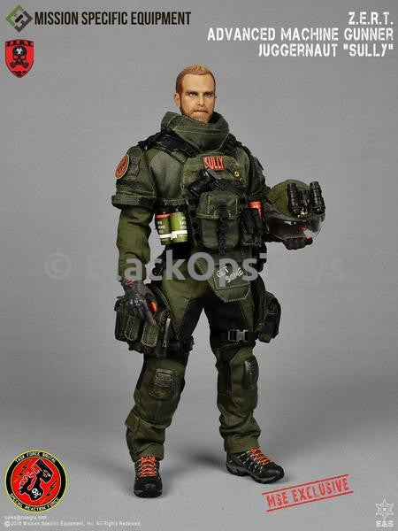 MSE ZERT Advanced Machine Gunner Juggernaut Sully OD GREEN Exclusive The Division Mint in Box