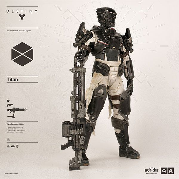 Destiny - The Hanged Man Titan - Male Base Body w/Chest Armor