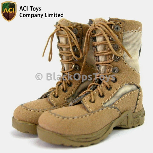 ACI Toys 1/6 Scale Modern US Army Combat Boots-Desert Color