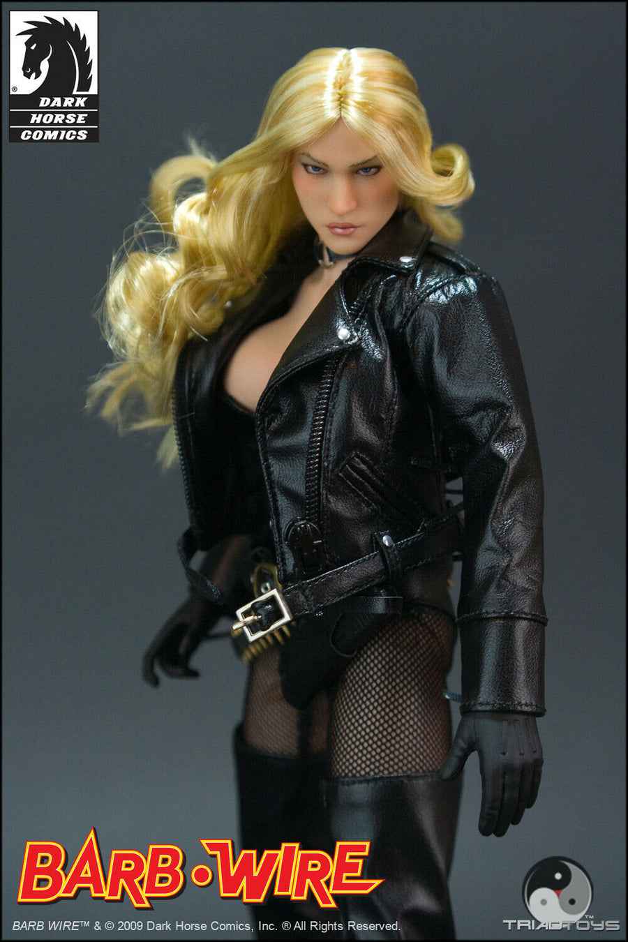 Barb Wire - Black Leather Like Corset w/Arm Sleeves