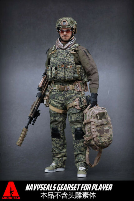 """ARMSHEAD ES AES001 1//6 Scale AOR2 Seal Tactical Vest /& Pouches for 12/"""" Figure"""
