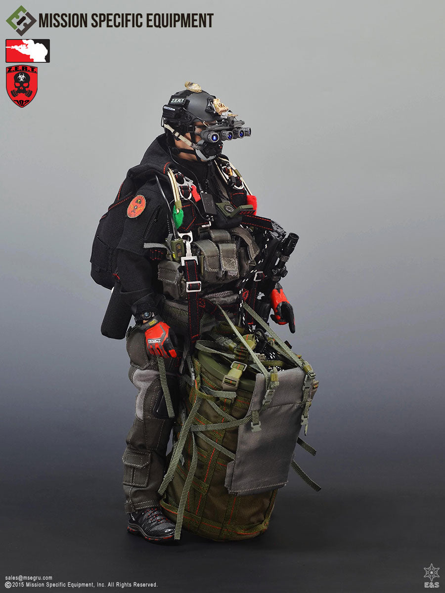 ZERT - Super Death Squad - Black & Red Parachute Pack