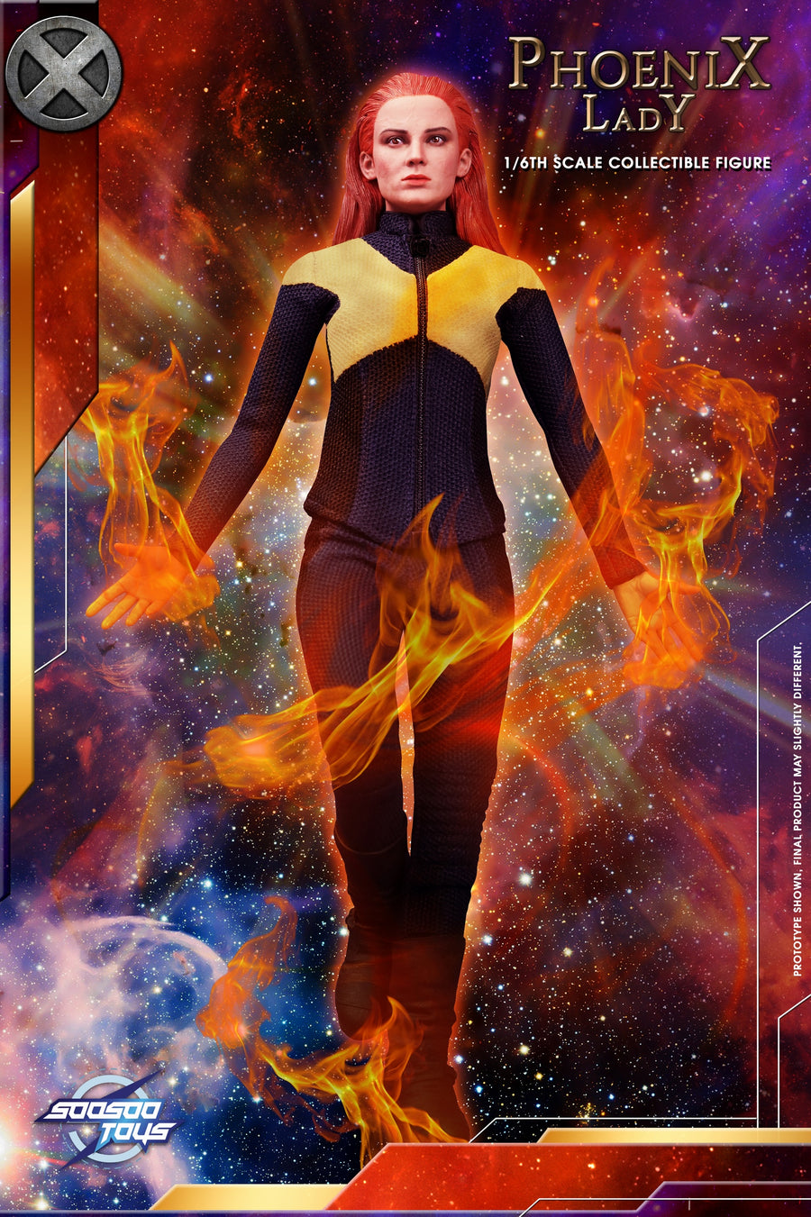 Phoenix Lady - Blue & Yellow Uniform Set
