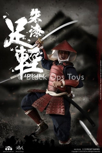 Palm Empire - 1/12 Scale Red Armored Ashigaru - MINT IN BOX