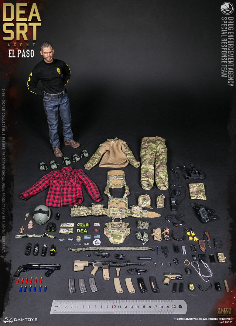DEA SRT Agent El Paso - Male Base Body w/Head Sculpt