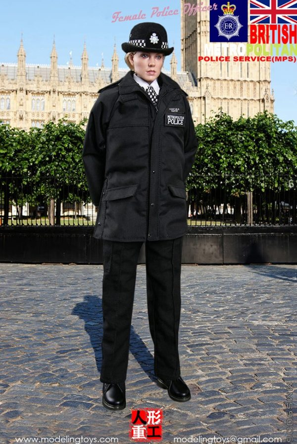 British - Female MPS - Black Rain Jacket
