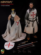 Knight Templar Crusader - Male Metal Helmeted Head Sculpt Type 2