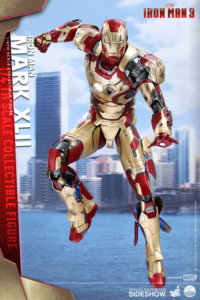 1/4 scale - Iron Man 3 - Mark XLII Suit - MINT IN BOX