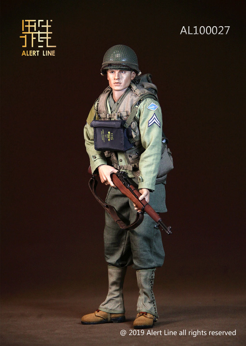 WWII - US Army Uniform Set w/Male Base Body & Head Sculpt