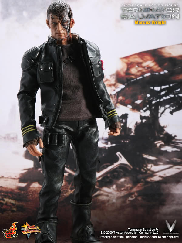 TERMINATOR - Marcus Wright - Black Boots (Peg Type)