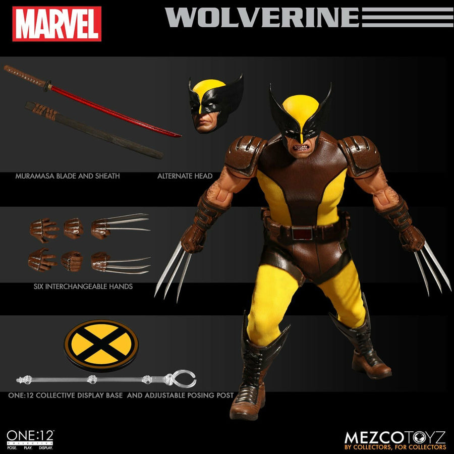 1/12 - Marvel - Wolverine - Male Base Body w/Uniform Set