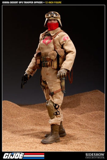 GI Joe - Cobra Desert Ops Trooper Officer - MINT IN BOX