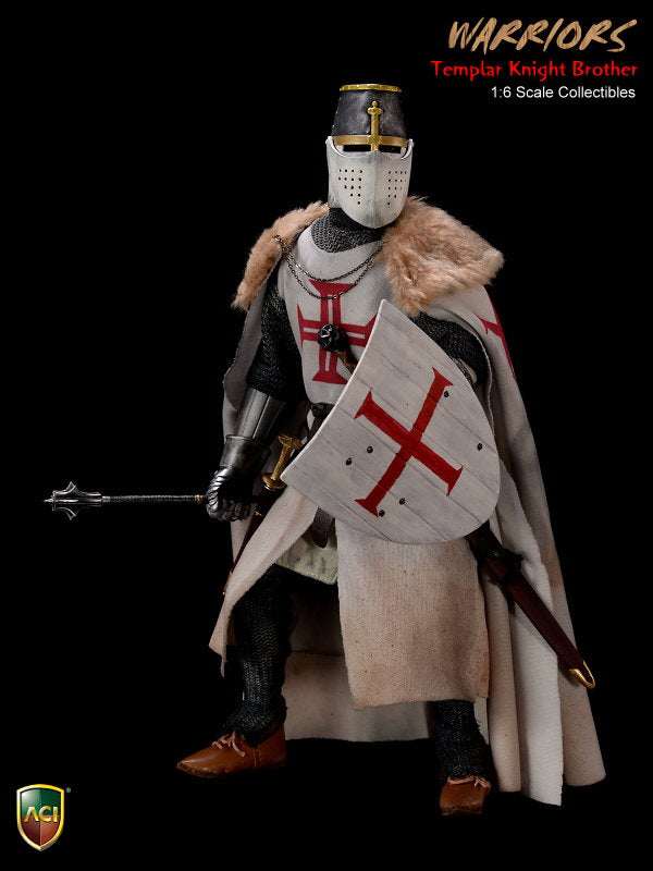 Knight Templar Crusader - Brown Shoes (Foot Type)