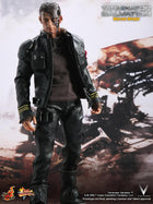 TERMINATOR - Marcus Wright - Black Leather Like Gaiters