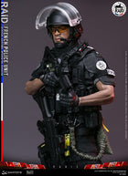 French Police RAID Unit - African American Male Head Sculpt