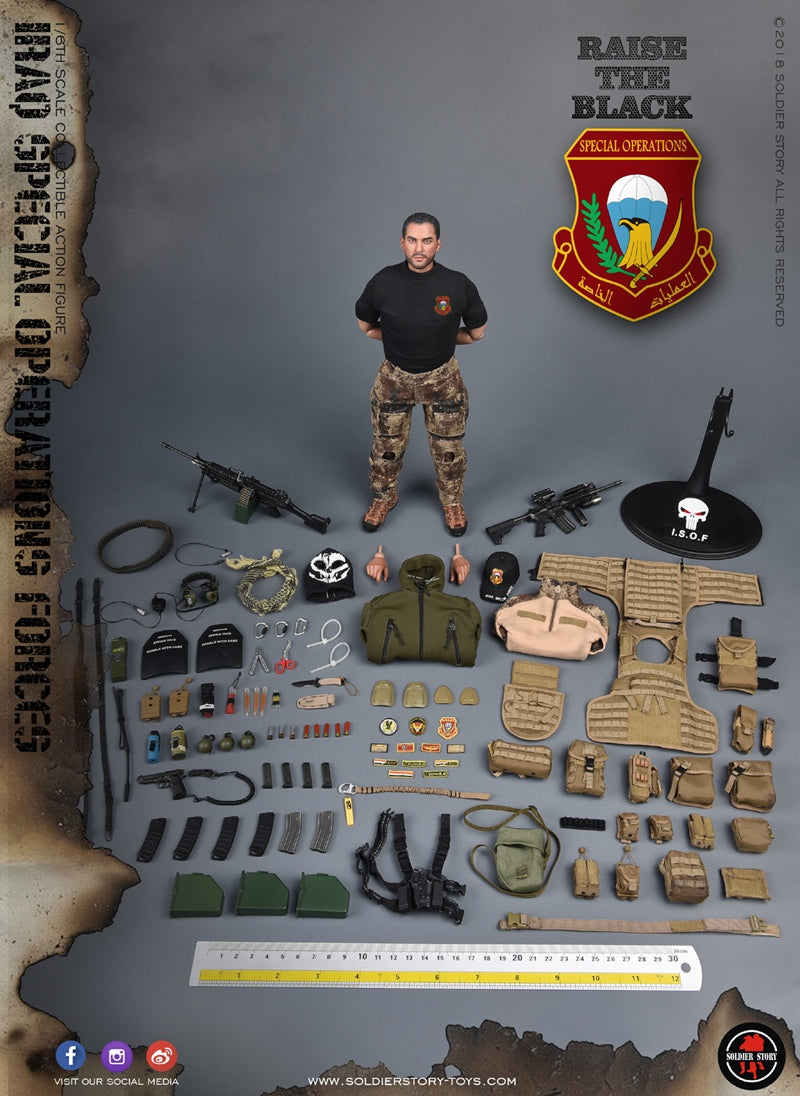 1//6 Soldier Story ISOF IRAK Force d/'opérations spéciales SS-107 Saw Gunner Tête