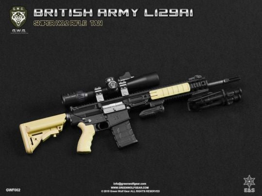 British L129A1 Sniper Rifle Set FDE Tan - MINT IN BOX